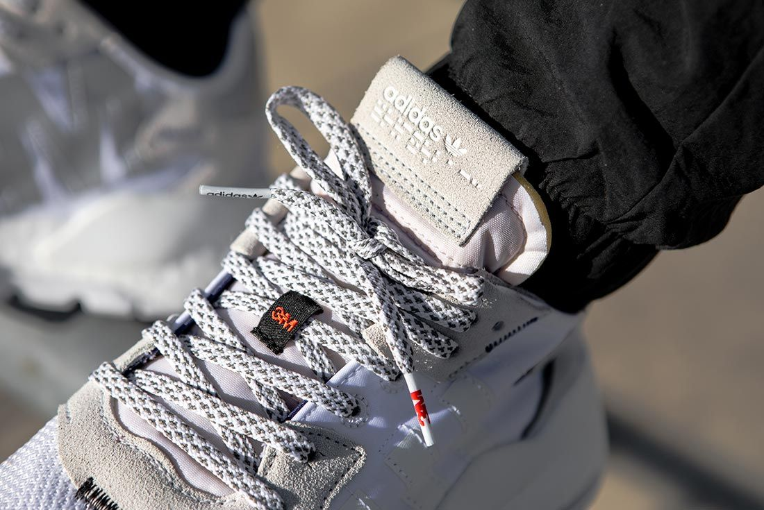On Foot Adidas Nite Jogger Grey Close Up