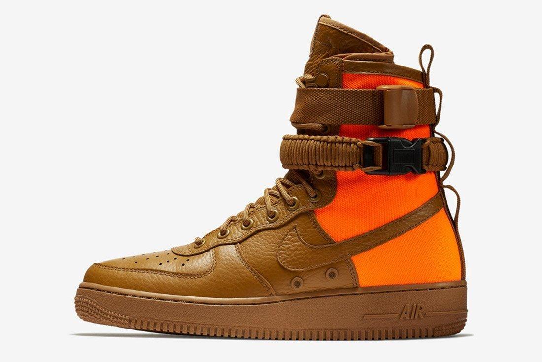 Nike Sf Air Force 1 Desert Ochre Brown Orange 5