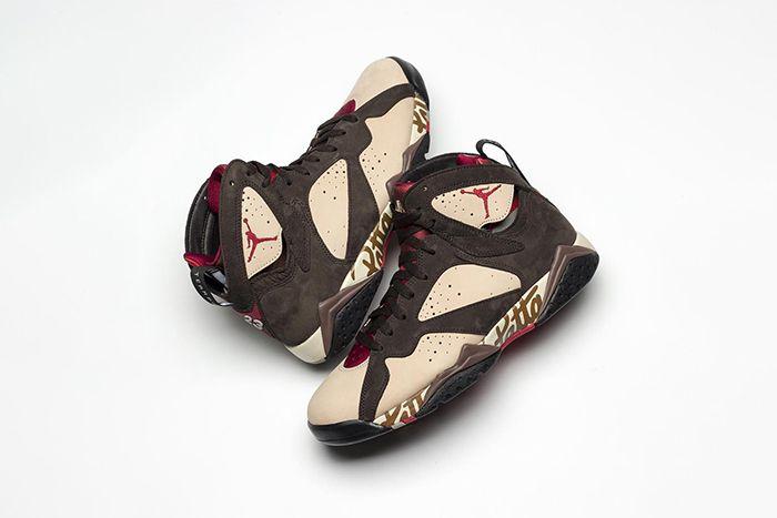 Patta Air Jordan 7 Og Sp At3375 200 Release Date Closer Look Pair Hero