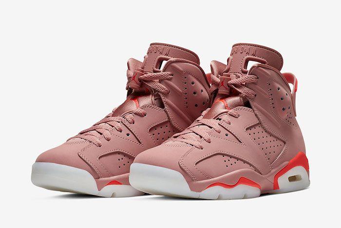 Aleali May Air Jordan 6 Millennial Pink Quarter