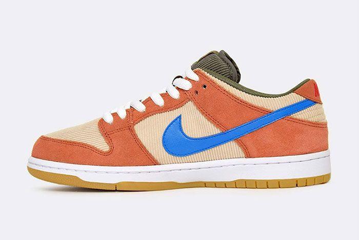 Nike Sb Dunk Low Corduroy Bq6817 201 6 Side