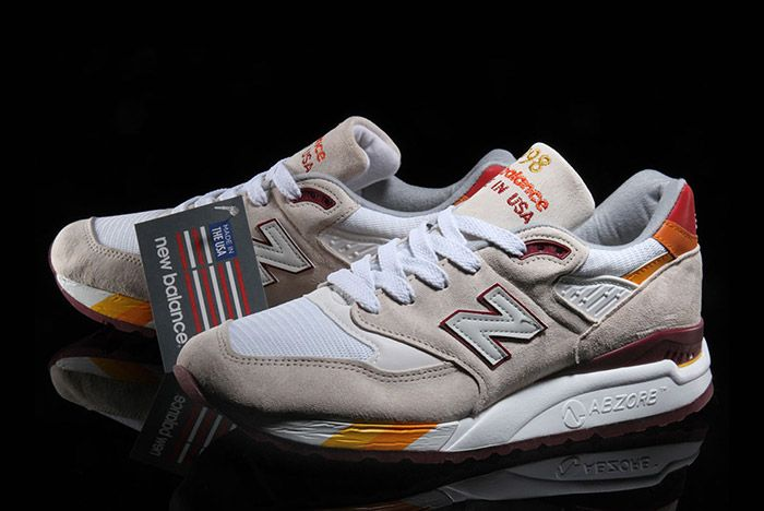 New Balance 998 White Burgundy Curry Made In Usa 2