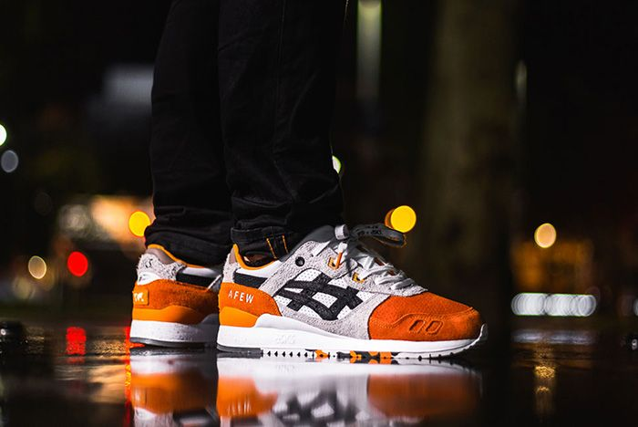 Afew Beams Asics Tiger Orange Koi On Foot