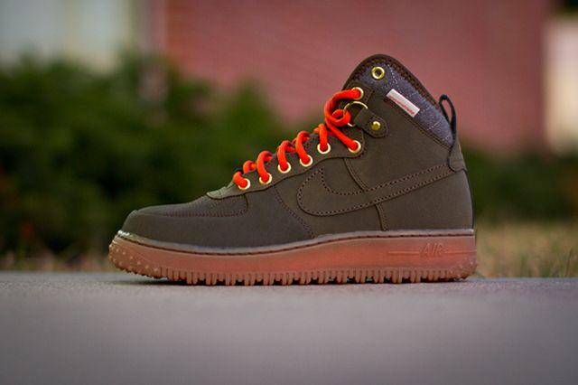 Nike Air Force One Duckboot Dark Loden 1