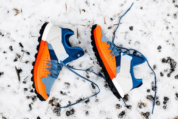 Adidas Response Trail Boost Core Blue Energy Orange 2