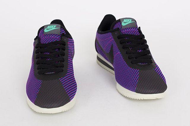 Nike Cortez Black Purple 1