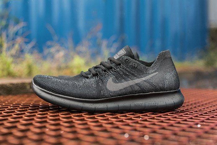 Nike Free Run Flyknit 2017 Triple Black5