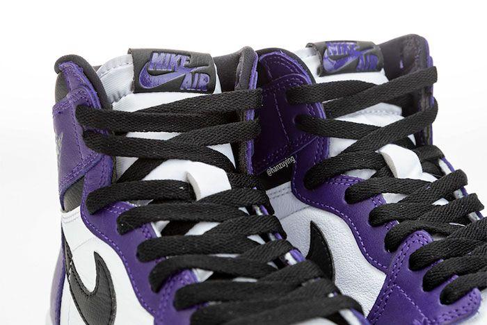 Air Jordan 1 Court Purple Tongue
