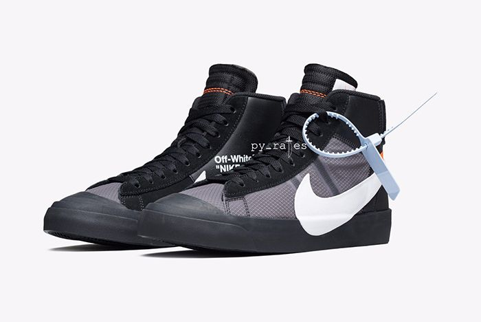 Off White Nike Blazer Mid New Canvas Black 5