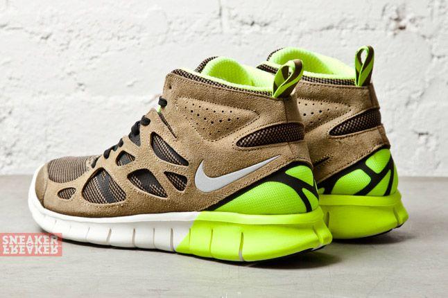 Nike Free Run V2 Mid Light Umber Volt 3