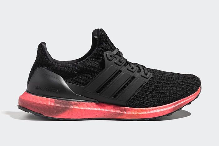 Adidas Ultra Boost Black Red Fv7282 Lateral