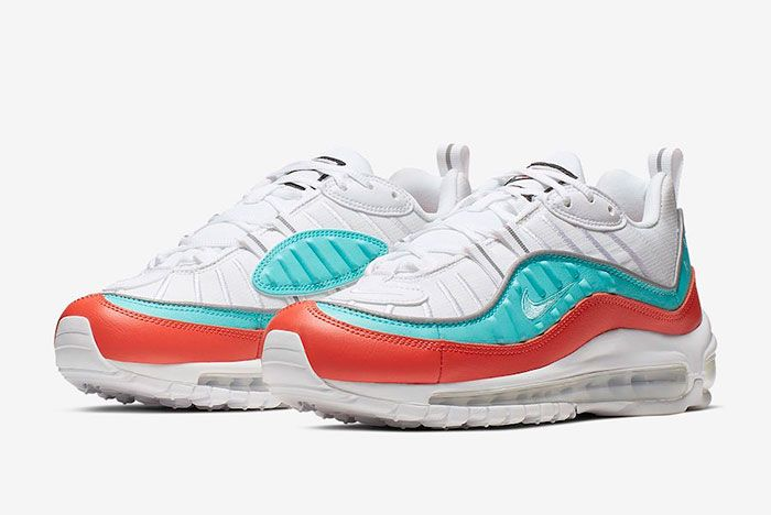 Nike Air Max 98 Cosmic Clay Light Aqua At6640 801 Release Date Pair