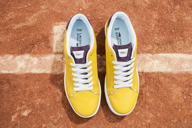 Lacoste Court Attack Purple Yellow 1