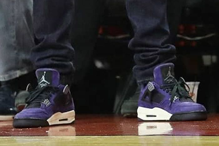 Travis Scott Air Jordan 4 Purple 1