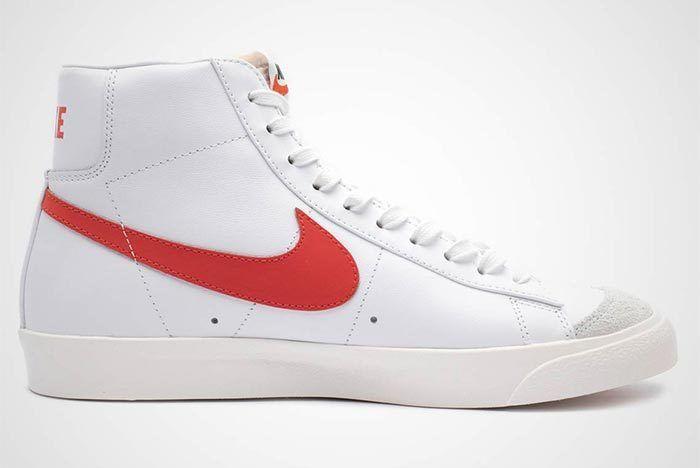 Nike Blazer Mid Vintage 77 Red White Side Shot 3
