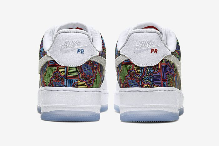 Nike Air Force 1 Low Puerto Rico Cj1620 100 Release Date Heel