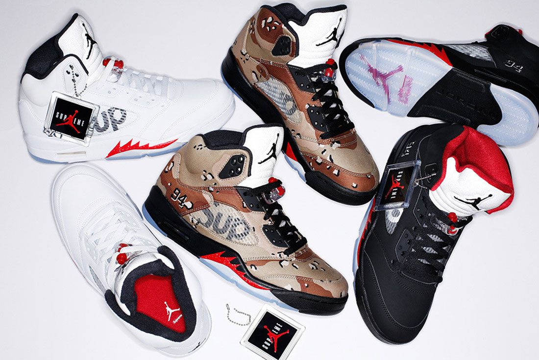 Supreme X Air Jordan 5 Collection Top Shot