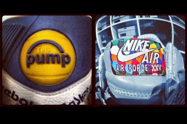 Reebok Pump Nike Air Force 1