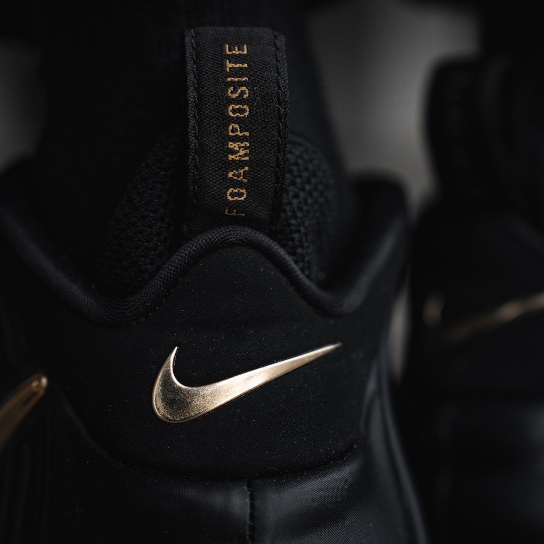 Nike Foamposite Black Gold 3
