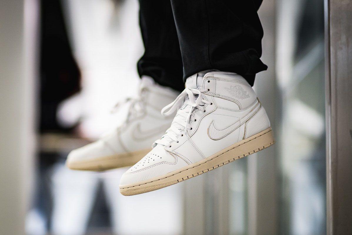 Afew Store Sneaker Air Jordan 1 Retro High Prem Pure Platinum Desertsand 313 Sneaker Freaker