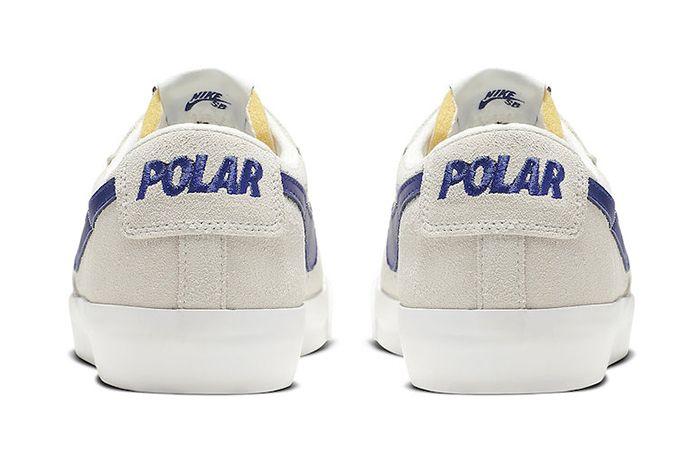 Polar Skate Co Nike Sb Blazer Low Official Av3028 100 Release Date Heel