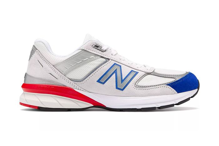 New Balance 990V5 Nimbus Cloud Team Royal Red Release Date Lateral