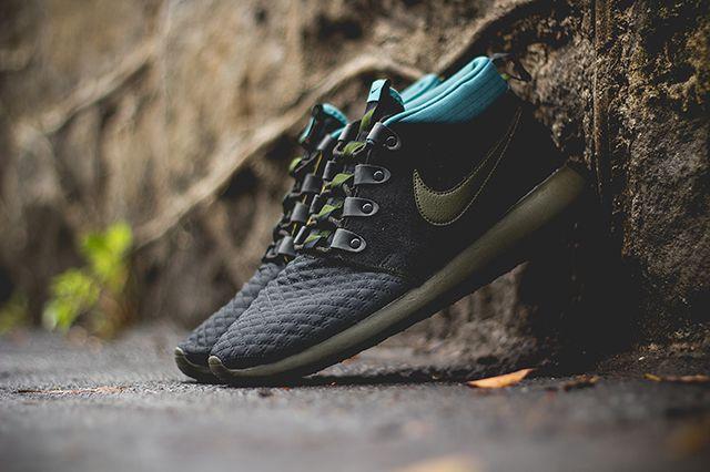 Nike Roshe Run Sneakerboot Dark Loden Mineral Teal 3