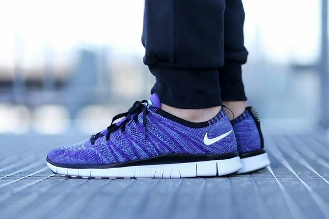 Nike Free Flyknit Nsw Court Purple 1