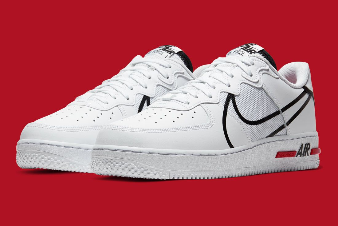 Nike Air Force 1 React Cd4366 100 Front Angle