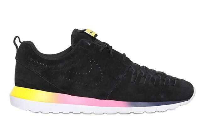 Nike Roshe Run Nm Woven Black Suede Rainbow Sole 1