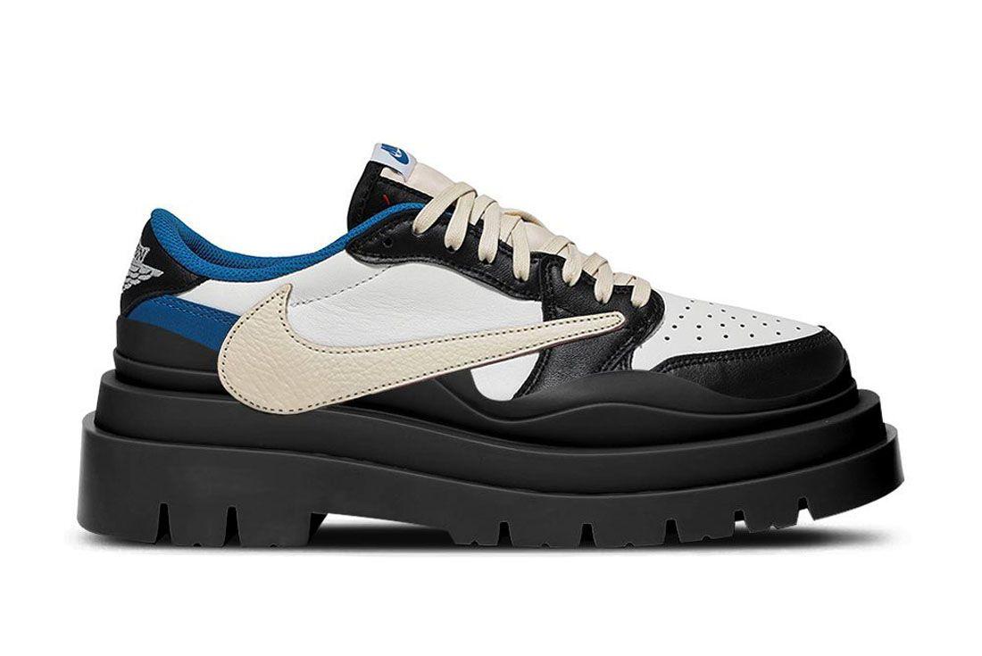 The Shoe Surgeon Air Jordan 1 Low Travis Fragment Bottega Veneta