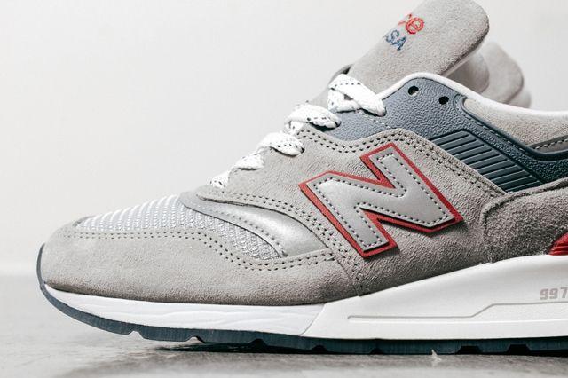 New Balance 997 Grey Red 1