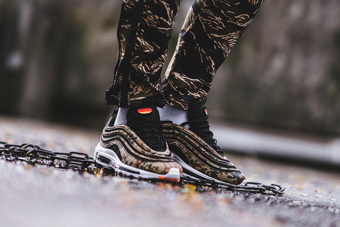 Country Camo Nike Air Max 97 Premium Qs Bamboo Black Dk Khaki Sequioa Aj2614 204 Sneaker Freaker 8