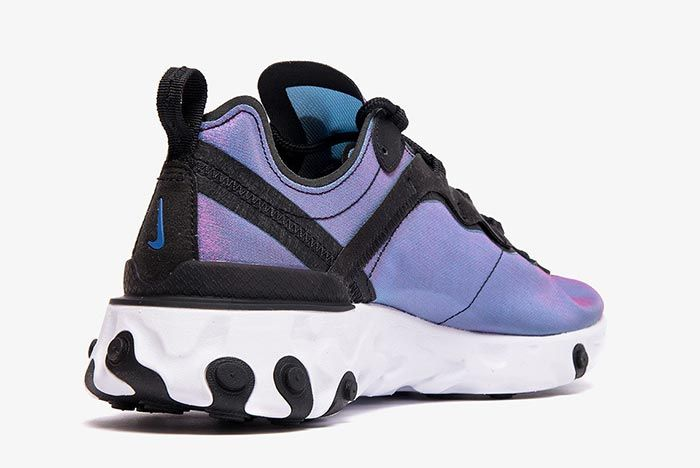 Nike React Element 55 Bq9241 001 Heel Angle Shot 2