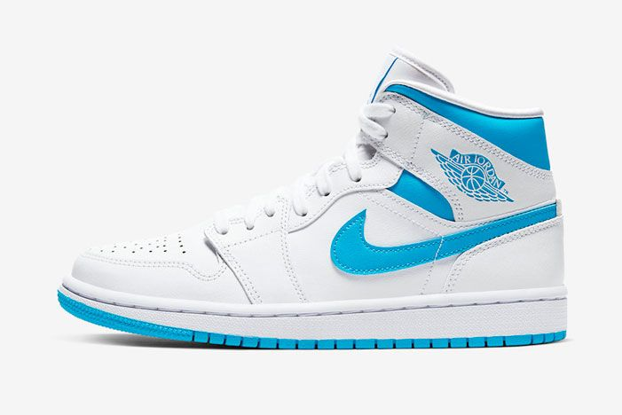 Air Jordan 1 Mid Unc Bq6472 114 Lateral Side Shot