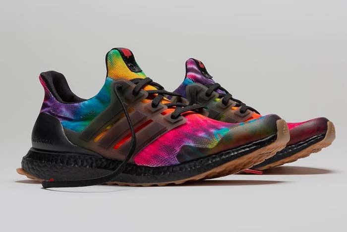 Nice Kicks Adidas Ultra Boost Woodstock Black Tie Dye Fu9164 Lateral Side Shot