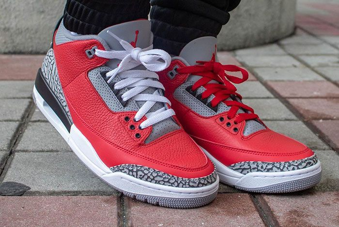 Air Jordan 3 Cement Red Fire Red All Star On Foot8