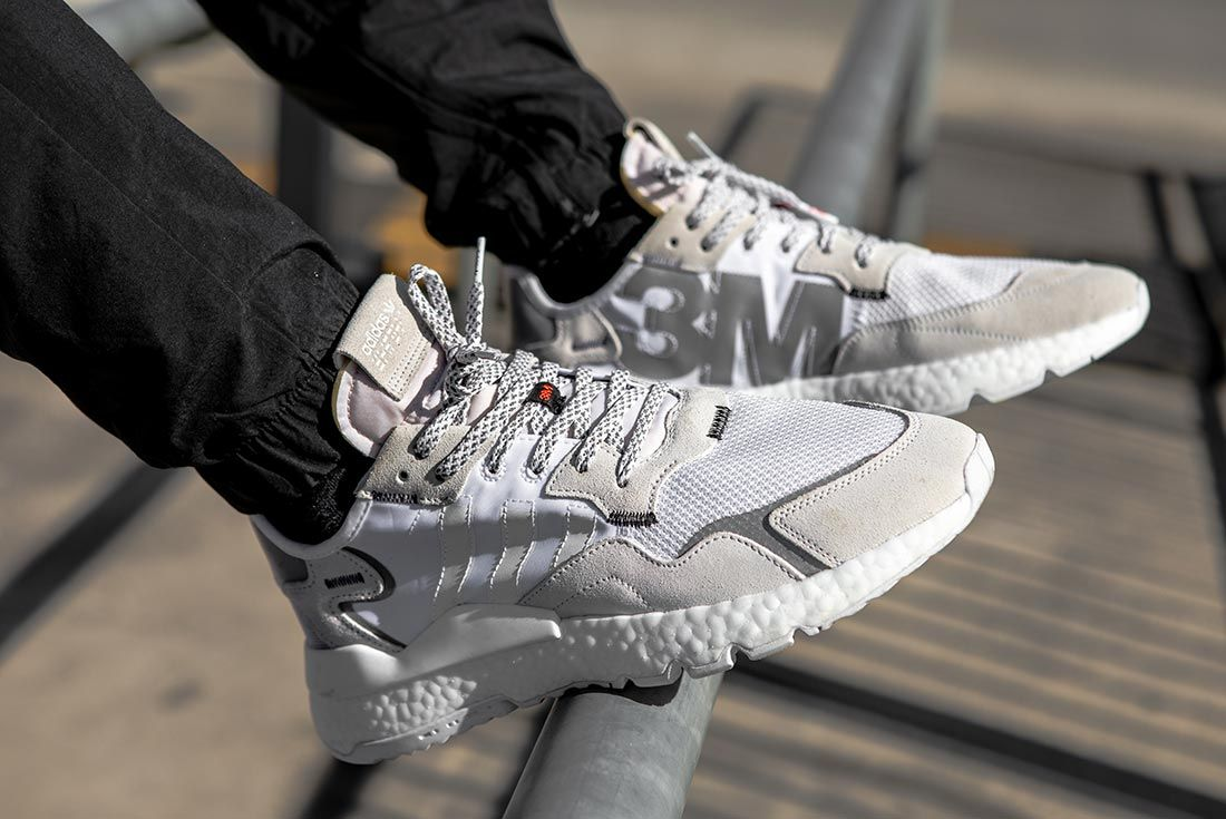 On Foot Adidas Nite Jogger Grey