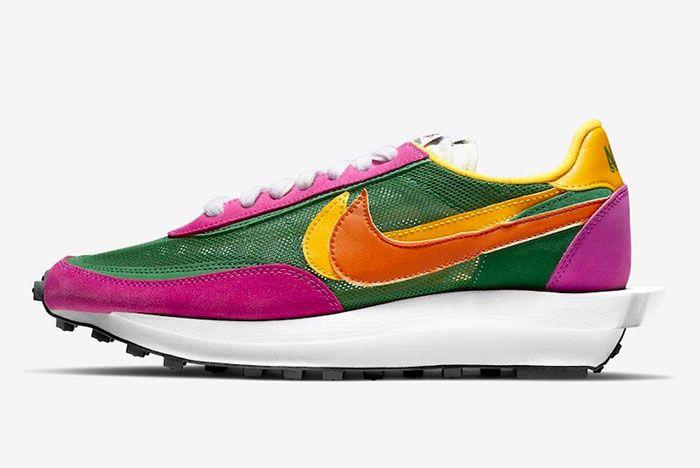 Sacai Nike Ld Waffle Pine Green Left
