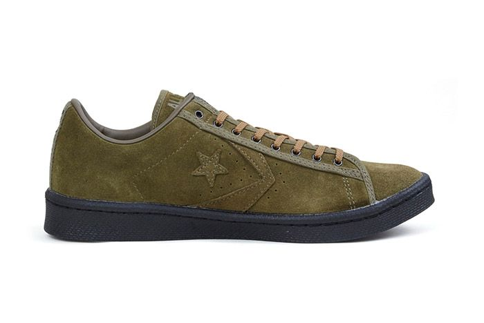 Nexusvii Converse Pro Leather Ox Olive Green Suede 1