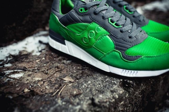 Saucony X Solebox Three Brothers Part 2 Green Angle Close Up 1