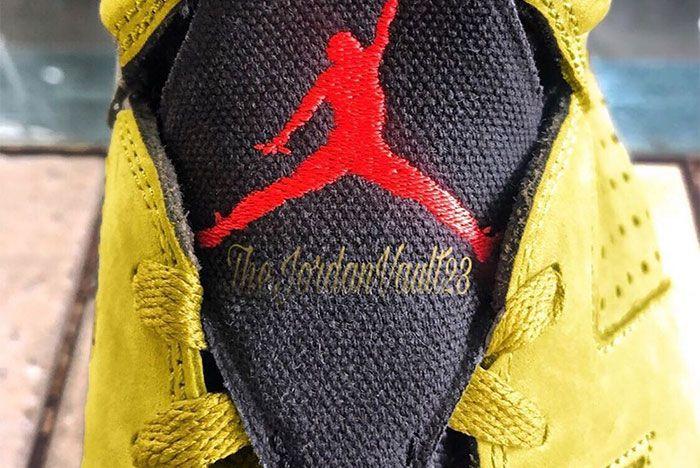 Travis Scott Air Jordan 6 Yellow Tongue