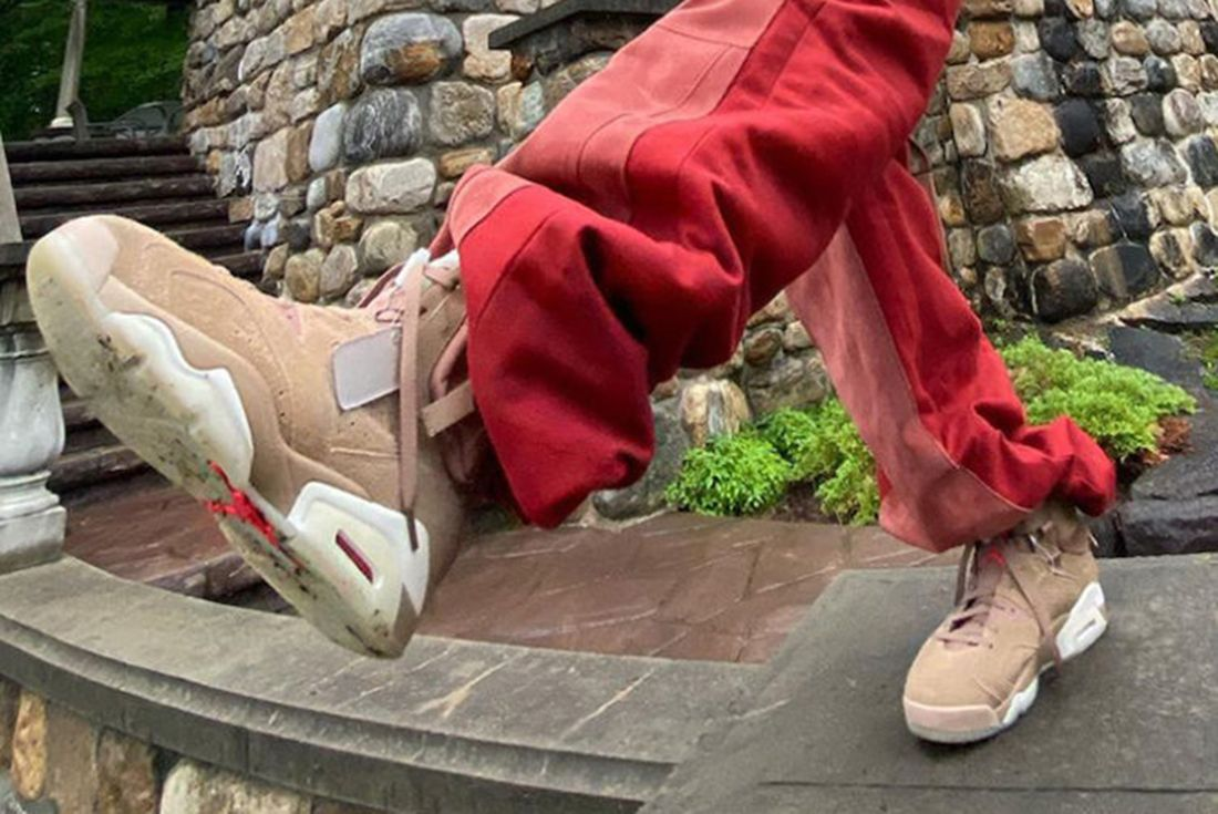travis scott air jordan 6 beige leak