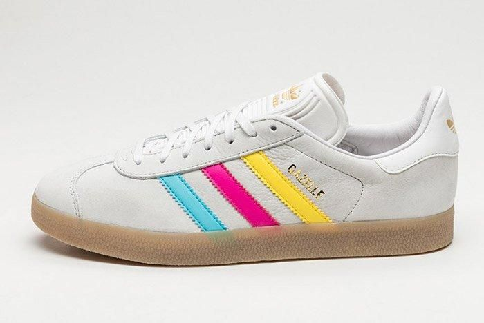 adidas Gazelle (Colour Stripes) - Sneaker Freaker