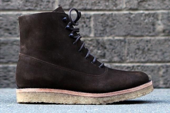Fieg Caminando Office Boots Brown Profile 1