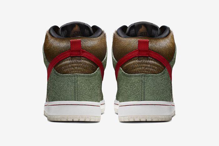Nike Sb Dunk High Walk The Dog Bq6827 300 Release Date Heel