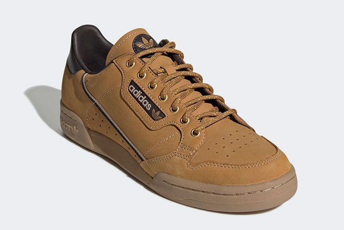 Adidas Continental 80 Wheat Eg3098 Front Angle