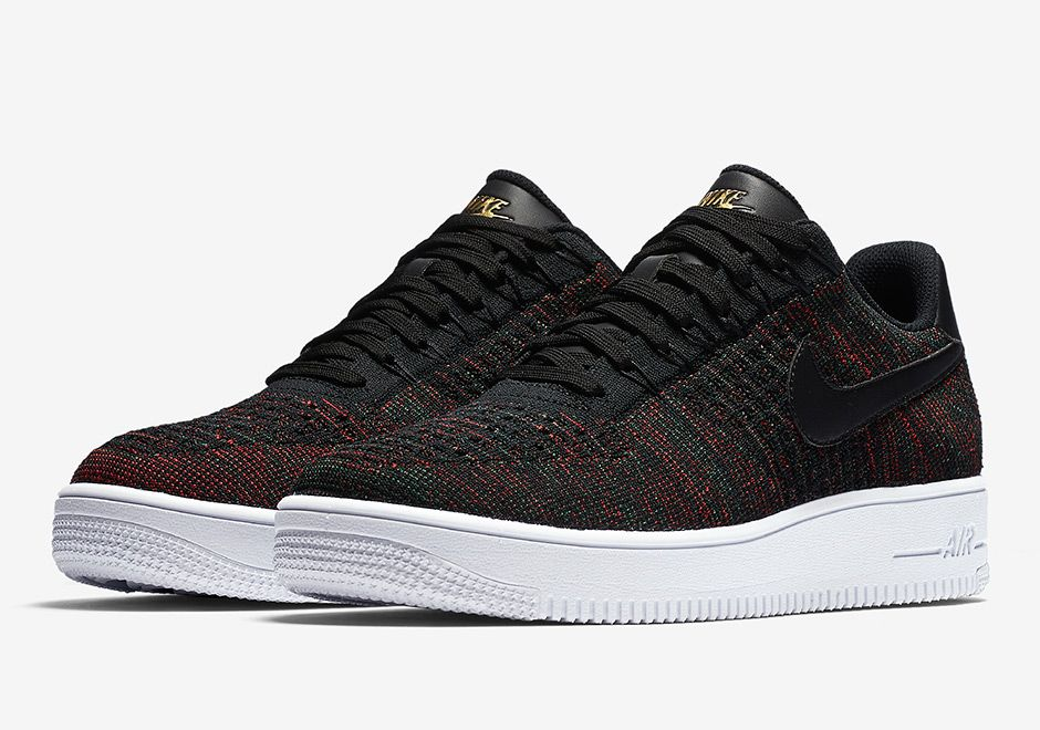 Nike Air Force 1 Low Flyknit Burgundy 817419 005 01