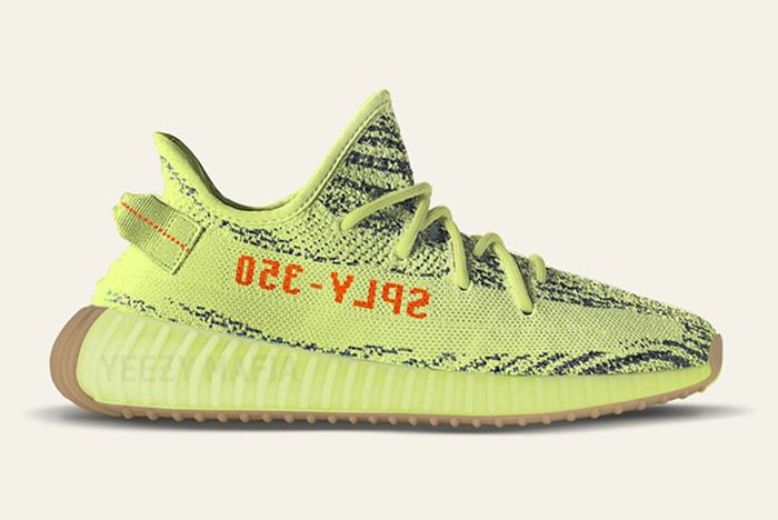Adidas Yeezy Boost 350 V2 Semi Frozen Yellow 1