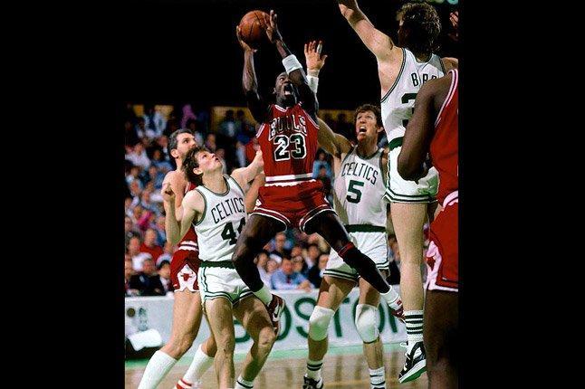 Jordan Slamming Celtics 1